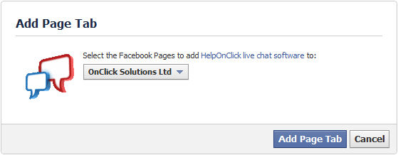 Live chat tab for your Facebook page - HelpOnClick