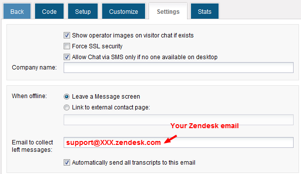 Forward HelpOnClick transcript emails to your Zendesk help desk