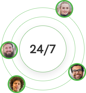 24/7 virtual chat agent availability