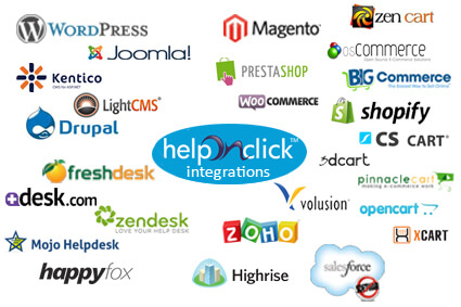 HelpOnClick Live Chat Integrations
