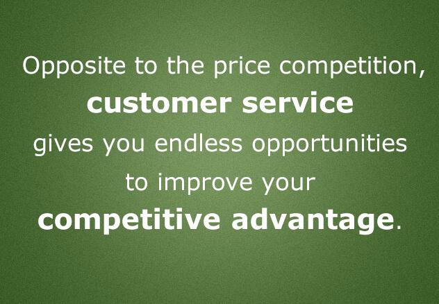 Customer service competitive advantage