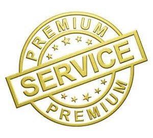 Premium customer service