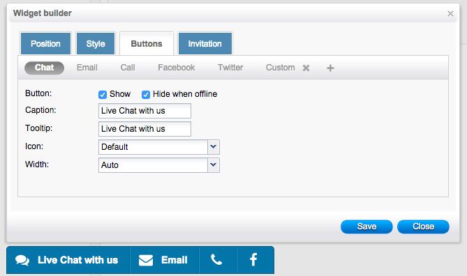 toolbar4Social chat toolbar settings - HelpOnClick