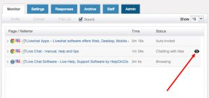 HelpOnClick Live Chat Supervision
