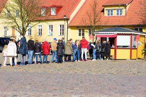 Long queue, starting a business