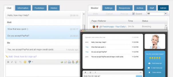 HelpOnClick live chat software