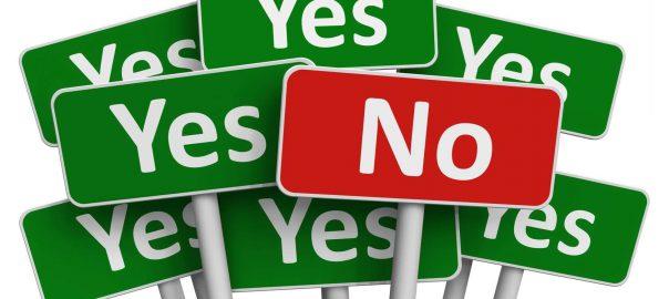 Saying no to customers